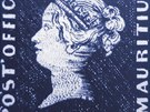 Známka modrý Mauritius