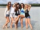 Finalistky sout�e �esk� Miss 2014 na ostrov� Mauricius