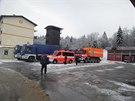 Čeští hasiči dorazili do slovinského města Postojna v neděli večer. Od pondělí