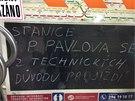 Tramvajová doprava je na I. P. Pavlova zcela přerušena. Metro stanicí pouze