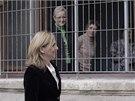 K soudu v Palm� de Mallorca dorazila princezna v sobotu r�no a se z�stupy
