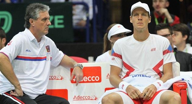 Jaroslav Navrátil, kapitán �eských tenist� pro Davis Cup, Tomá�i Berdychovi ani...