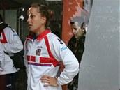 Česká tenistka Barbora Záhlavová-Strýcová musela dlouho čekat, její zápas v 1.