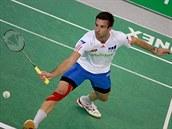 OBHÁJIL. Petr Koukal má dal�í titul z mistrovství republiky v badmintonu.