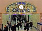 Stanice ruského metra patří mezi světově nejpůsobivější. Na snímku je hala ve...