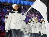 Na slušivých uniformách estonského týmu převažují neutrální tóny: černá, bílá a...