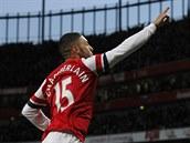 Alex Oxlade-Chamberlain z Arsenalu slav� g�l.