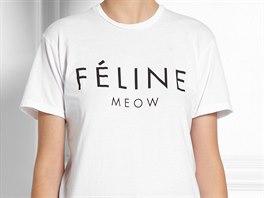 N�sledovala variace na logo C�line - F�line, tedy ko�kovit� �elma, nav�c s...