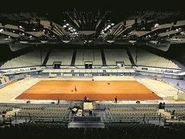 Pohled do ostravské ČEZ Arény při přípravě jednoho z mnoha tenisových utkání.