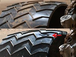 Koncem lo�sk�ho roku odhalily kontroln� z�b�ry na p�edn�m lev�m kole vozidla...