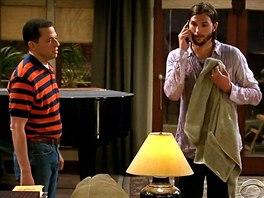 Ashton Kutcher v seriálu Dva a půl chlapa