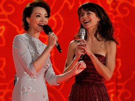 Tradičního galavečeru v Číně se zúčastnila i francouzská herečka Sophie Marceau.
