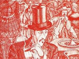 Vlastní ilustrace Jiřího Brdečky k prvnímu vydání románu Limonádový Joe