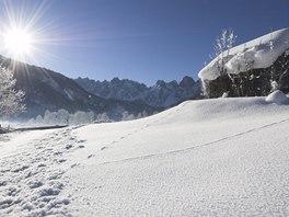 Sněhové zátiší u Gosau