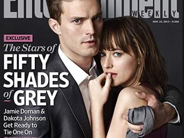 Jamie Dornan a Dakota Johnsonov� na ob�lce magaz�nu Entertainment Weekly jako...