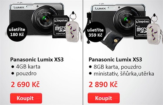 Super kompakt Panasonic Lumix XS3 jen za 2 490 K�, pouze v Megapixelu