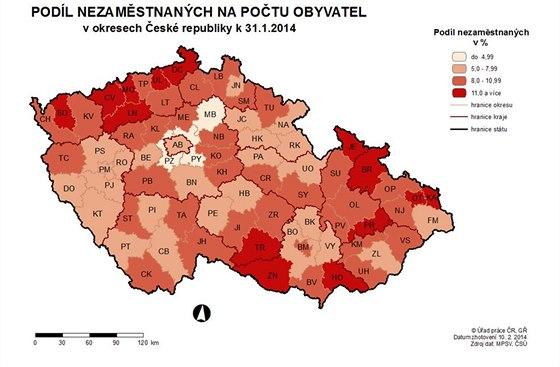 Nezaměstnanost v ČR v lednu 2014.