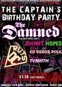 Plakát koncertu k šedesátinám kytaristy The Damned Captaina Sensiblea