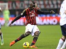 Mario Balotelli byl jediným střelcem zápasu AC Milán - Boloňa.
