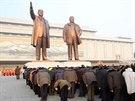 Vzpomínkové akce k výročí smrti Kim Čong-ila (16. února 2014)