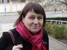Po schodech do nové kanceláře. Do Brna dorazila nová ombudsmanka Anna Šabatová před polednem z Prahy, kde ráno skládala slib v kanceláři předsedy Poslanecké sněmovny.