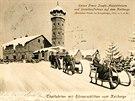 Naši předci měli sníh rádi. Foto z Klínovce z přelomu 19. a 20. století