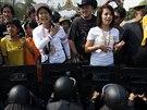 Účastníci nepokojů obviňují vládu z korupce a tvrdí, že ji ve skutečnosti z...