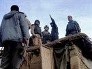 Jedna z policejních stanic v afghánském Bagrámu