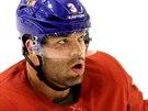 �esk� hokejov� reprezentant Radko Gudas p�i �tern�m tr�ninku. (11. �nora 2014)