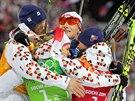 Čeští biatlonisté vybojovali stříbrnou olympijskou medaili ve smíšené štafetě,...