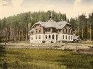 Arcibuskupský hotel na Bílé kolem roku 1910, v součanosti hotel Pokrok.