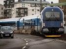Prvn� souprava railjet vyroben� ve v�de�sk�m z�vod� Siemens pro �esk� dr�hy.