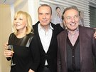 K platinové desce Margitovi gratulovali i manželka Hana Zagorová a kamarád...