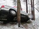 S Volkswagenem Passat havaroval �idi�  mezi obcemi Z�dve�ice-Rakov� a Horn�...