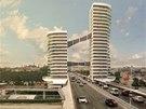 Návrh, který nesplnil podmínky soutěže, umístil totiž stavbu na Nuselský most,