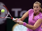 SOUSTŘEDĚNÍ. Petra Kvitová v 2. kole turnaje v Dauhá vyřadila Venus...