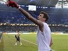 Útočník Bayernu Mnichov Mario Mandzukič vstřelil ve čtvrtfinále Německého...