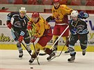 Momentka z prvoligového hokejového duelu Jihlava vs. Beroun