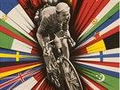 Zářivé barvy najdeme i na plakátu k Závodu míru (1956).