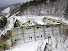 Zřícená střecha haly v jihokorejském městě Kjongdžu  (18. února 2014).
