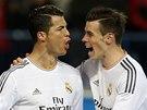 JSEM ZPÁTKY! Cristiano Ronaldo z Realu Madrid (vlevo) nemůže hrát kvůli trestu