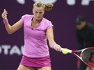 Petra Kvitová hraje v Dauhá se srbskou tenistkou Jelenou Jankovičovou.