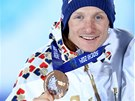 JEHO DRUHÁ. Po stříbrné získal biatlonista Ondřej Moravec v Soči také bronzovou medaili.