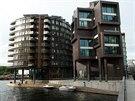 Nový bytový výškový dům Niels ve čtvrti Tjuvholmen, která vyrostla v místě...