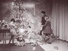 Vánoce v obývacím pokoji