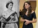 Královna Alžběta II. a vévodkyně z Cambridge Kate