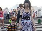 Sophie Ellis-Bextor s manželem Richardem Jonesem a synem Sonnym (31. července...