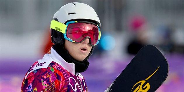 �eská snowboardistka Ester Ledecká v kvalifikaci paralelního ob�ího slalomu na...