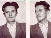 Fotografie Miroslava S�kory z vazby. 1. srpna 1951 byl popraven.