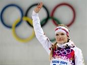 MEDAILOVÁ RADOST. Česká biatlonistka Gabriela Soukalová vybojovala v...